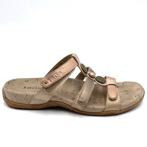 TAOS PRIZE 3 leather sandals velcro straps size 6